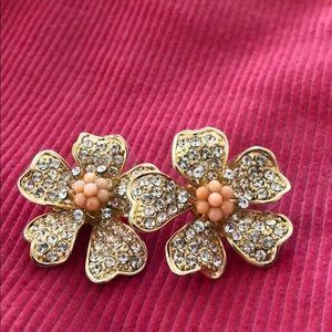J Crew flower earrings